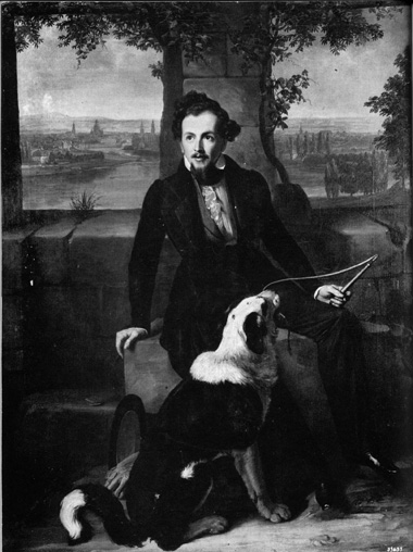 Sam Ward with dog
